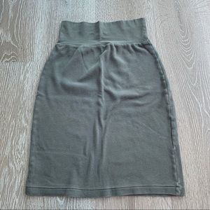 American Apparel Pencil Skirt - Gray